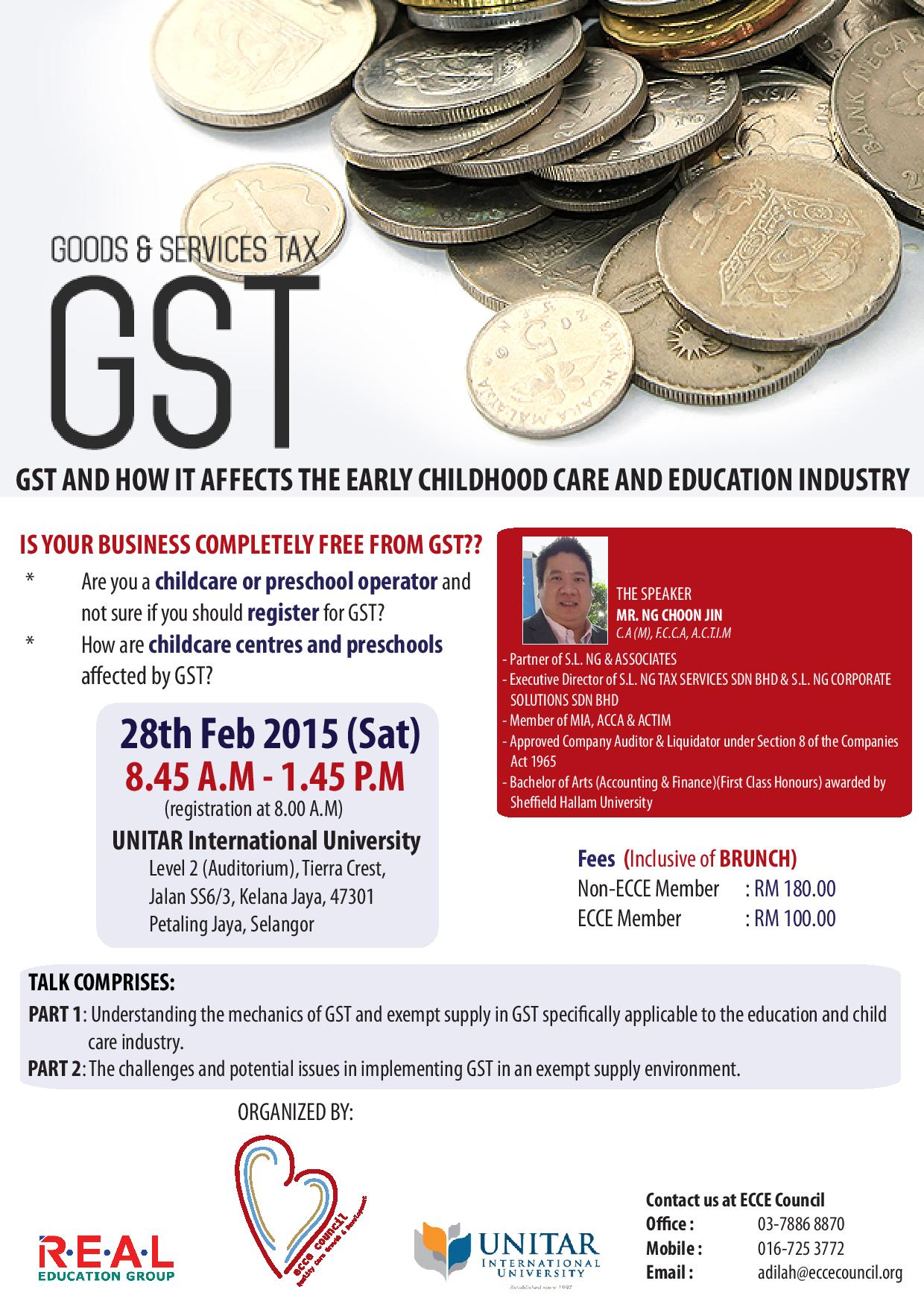 GST WORKSHOP BROCHURE